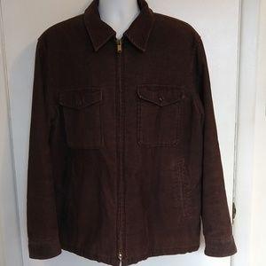 Mens Brown Corduroy Jacket Coat GAP Zip Up
